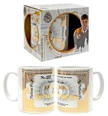 TAZA HARRY POTTER BILLETE PLATAFORMA 9.3/4