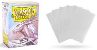 DRAGON SHIELD WHITE MATTE 100 FUNDAS PROTECTORAS