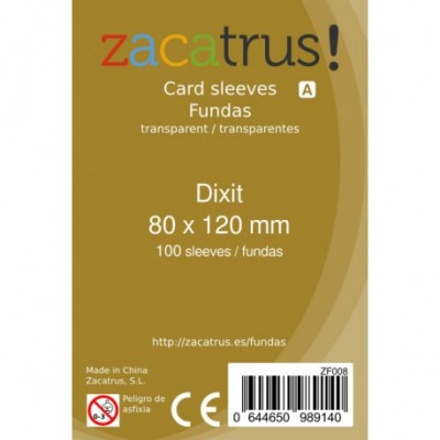 FUNDA ZACATRUS DIXIT 80X120MM 100 FUNDAS