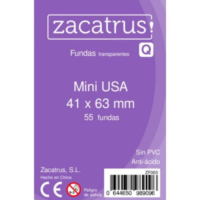 FUNDAS ZACATRUS MINI USA 41X63 100 UNDS