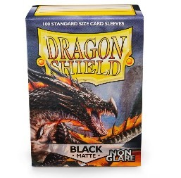DRAGON SHIELD BLACK MATTE 100 FUNDAS PROTECTORAS