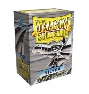 DRAGON SHIELD SILVER 100 FUNDAS PROTECTORAS ESTANDARD