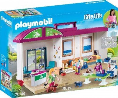 PLAYMOBIL CITY LIFE CLINICA VETERINARIA 70146