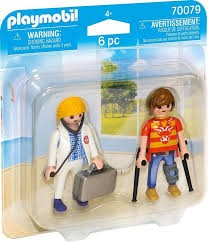 PLAYMOBIL 70079 DOCTOR Y PACIENTE