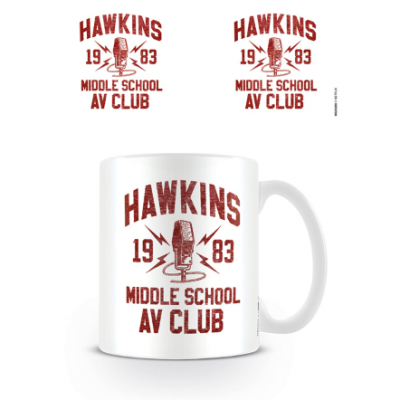 TAZA STRANGER THINGS HAWKINS ROJO