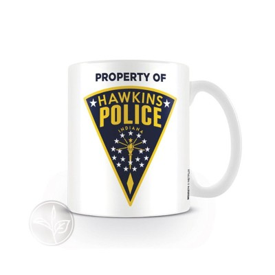 TAZA STRANGER THINGS PROPERTY OF HAWKINS POLICE